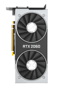 nvidia rtx 2060 gpu from above