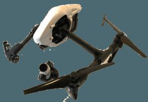 Broken DJI Inspire Drone