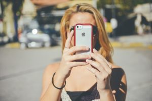 Girl with an iPhone